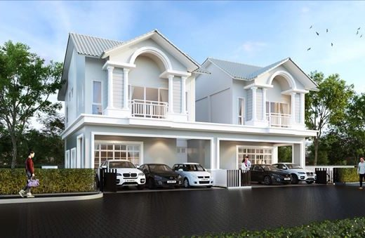 ใหม่ บ้านอิสระ & บ้านแฝด ระบบสมาร์ทโฮม ทำเลพิเศษในศรีราชา ฟังก์ชั่นเทียบบ้านเดี่ยว กว้างกว่า พื้นที่ใช้สอยมากกว่า